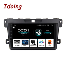 Idoing 2.5D IPS מסך רכב אנדרואיד רדיו וידאו מולטימדיה נגן עבור MazdaCX 7 CX 7 CX7 4G + 64G GPS ניווט לא 2 דין DVD 4G