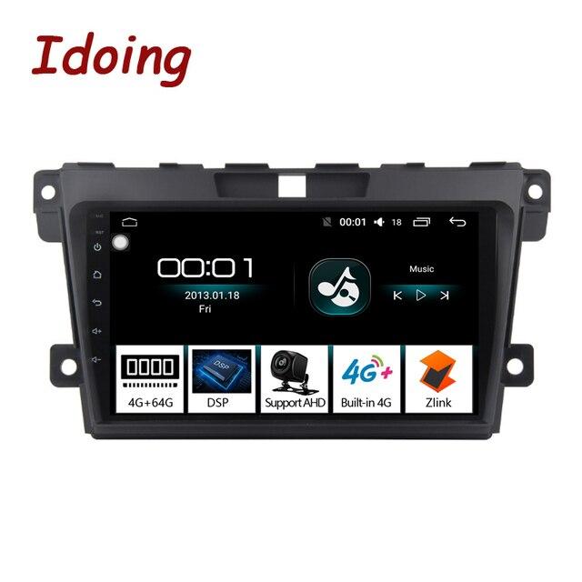 Idoing 2.5d ips tela do carro android rádio leitor de vídeo multimídia para MazdaCX 7 cx 7 cx7 4g + 64g navegação gps não 2 din dvd 4g