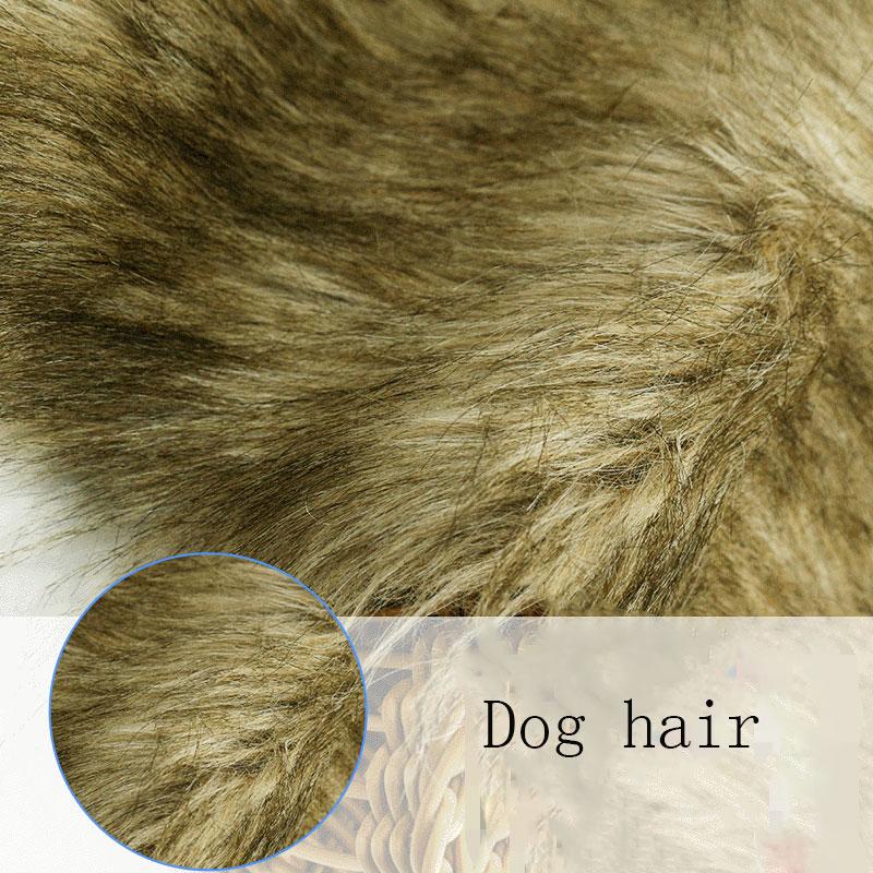 Artificielle fausse fourrure imitation chien cheveux mode fourrure collier jouet artisanat en peluche tissu