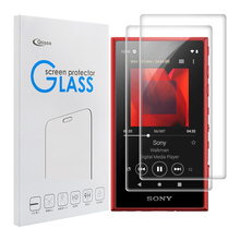 Qosea (2 PACK) Tempered Glass Walkman For Sony NW-A105 Screen Protector 9H Ultra Clear MP3 MP4 Screen Protective Anti-scratch