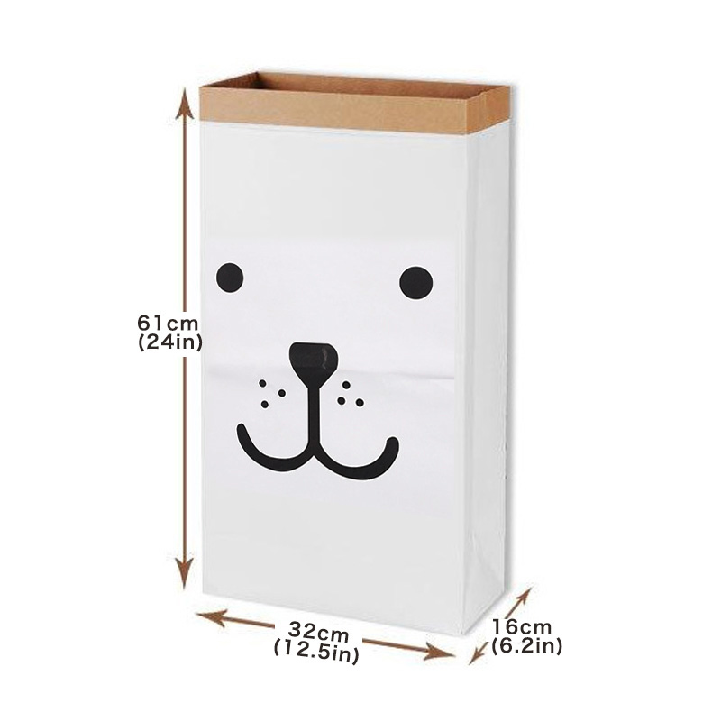High Quality Storage Bag  Nordic Style Kraft Paper  Kids Toys Clothing Organizer Eco-Friendly Room Storage Bag hot selling Pakistan