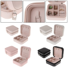 Jewelry Box Portable Storage Organizer Zipper Portable Women Display Travel Case