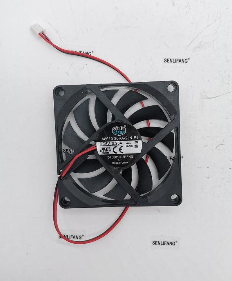 Cooler Master 5V 0.25A 8CM A8010-20RA-2JN-F1 8010 Fan 80*80*10MM