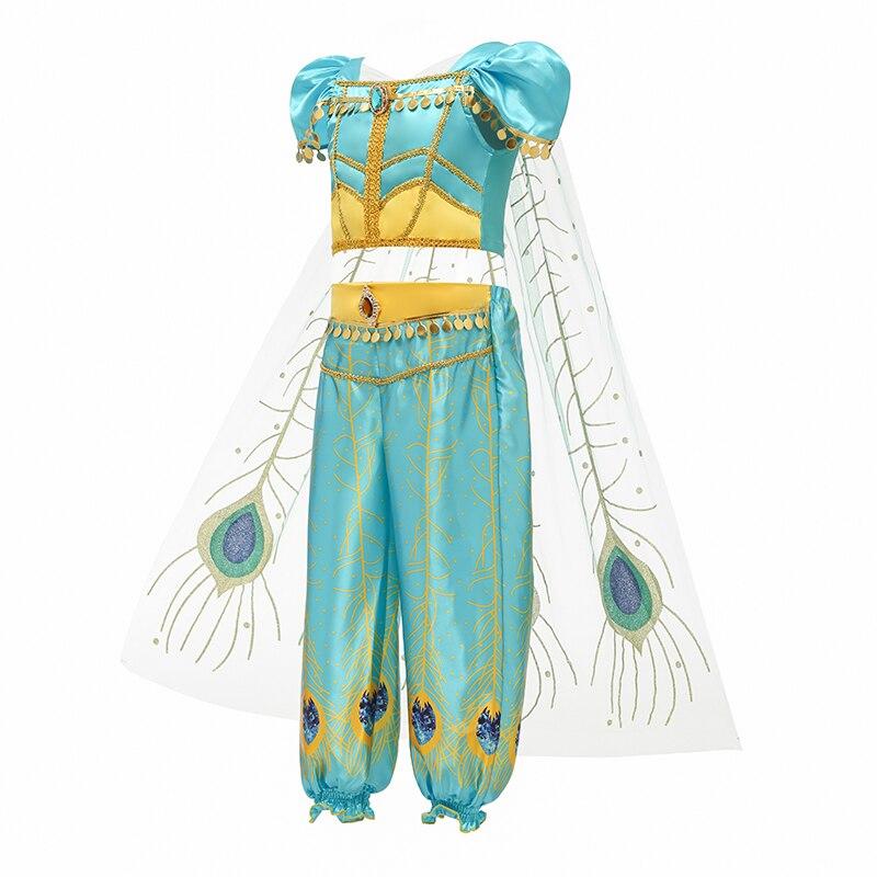 H441c7426b142484998ac5287e53f8e26q Fancy Girl Princess Dresses Sleeping Beauty Jasmine Rapunzel Belle Ariel Cosplay Costume Elsa Anna Sofia Children Party Clothes