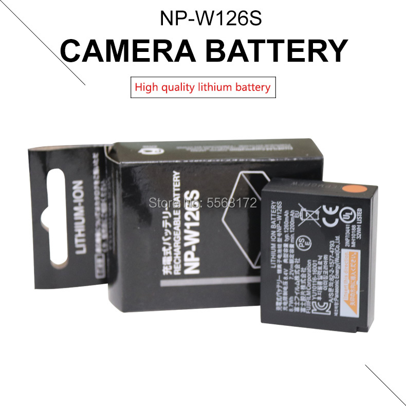Camera Battery Replace NP-W126S W126S For Fujifilm Fuji X-H1 X-PRO3 X-PRO2 X-T3 X-T2 X-T30 X-T20 X-T200 X-E3 X-E2 X-A5 X-A3 XT3