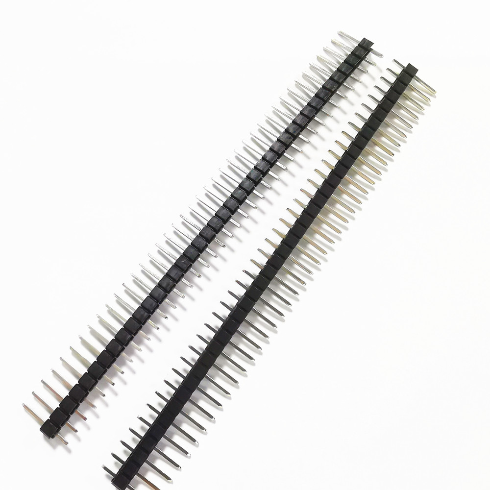 10pcs 40 Pin 1x40 Single Row Male And Female 2.54 Breakable Pin Header Connector Strip For Arduino Black