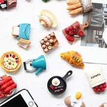 Premium Cartoon Strong Fridge Magnets 3D Egg Bread Refrigerator Magnets for Home Decoration,Whiteboard Kitchen