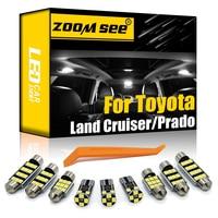 Perfecto Canbus vehículo bombilla LED para Interior luz de placa de Kit para Toyota Land Cruiser 70 80 100 de 200 del Prado 90 120 150 FJ