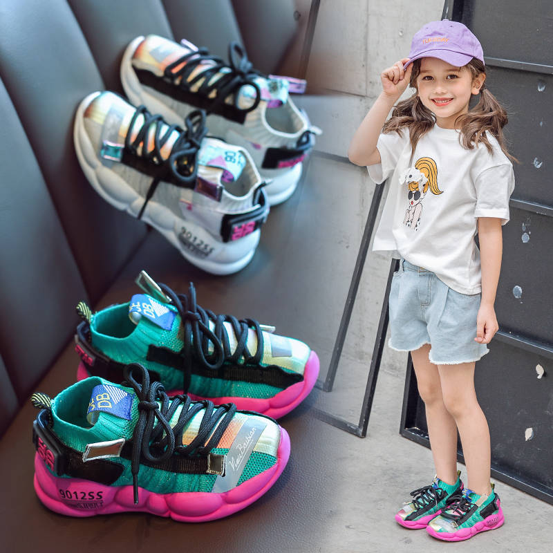 Children's sneakers 2019 autumn new fashion boys and girls wild casual shoes mesh breathable non-slip soft bottom kids shoes