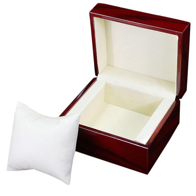 Caixa de Relógio de Madeira Caixa de Relógio de Vinho Caixa de Armazenamento Caixa de Presente de Exibição Gabinete de Relógio Caixa de Presente Única Vermelho Mecânico