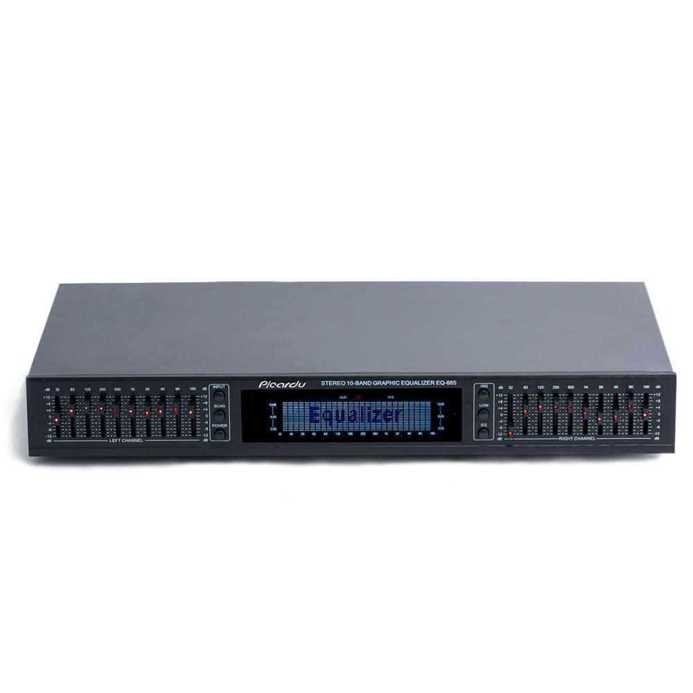 EQ665 Equalizer Hifi Home 20-segment Stereo High-sound Bass Adjustment EQ Balanced Tuner Power Amplifier Dedicated Equalizer
