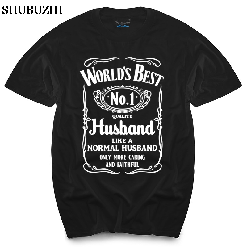 World's Best Husband T-Shirt Funny Fathers Day Dad Present Valentines Mens Gift men's top tees black tshirts
