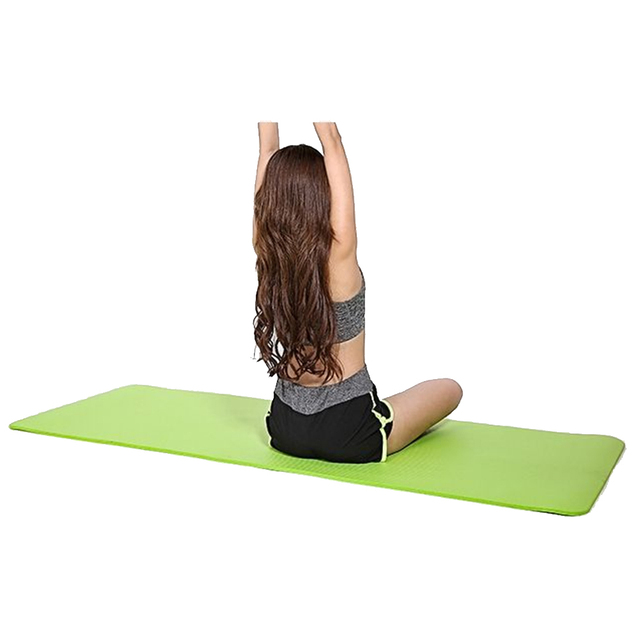 183 61 1cm Yoga Mats With Carring Bag Thick Hot Yoga Pilates Mats Gymnastics Balance Pads