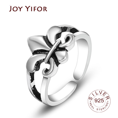 Flower Surface Ring Minimalist Style For Charm Women Party High Quality Real 925 Sterling Silver Fine Jewelry Brincos