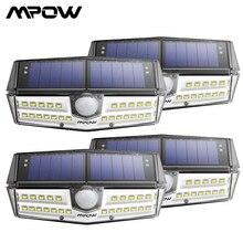 4 แพ็ค Mpow 30 LED Motion Sensor SOLAR Light IPX6 + 120 มุมกว้างกลางแจ้งไฟ luz LED Para ภายนอก