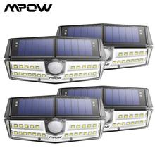 4 шт. в упаковке Mpow 30 светодиодный датчик движения солнечный светильник IPX6 + настенный светильник 120 широкоугольный датчик наружный светильник s Luz Солнечный светодиодный Para наружный