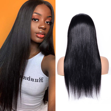 Qing SI Straight Hair Wigs Lace Frontal Wig Brazilian Human Remy Hair 13*4 Front Lace l Pre Plucked with Baby Hair 150% Density