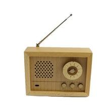 купить Wooden Radio Shape Music Box Creative Retro Art Crafts Birthday Gift Vintage Home Decor Figurine Home Decoration Accessories дешево
