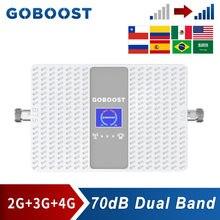 Усилитель сотовой связи GOBOOST 2G 3G 4G CDMA 850 шт. 1900 DCS 1800 AWS 1700 двухдиапазонный усилитель сигнала GSM 900 UMTS 2100 МГц Ретранслятор
