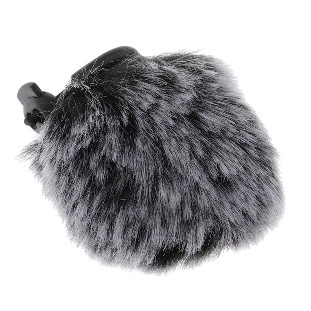Wind Muff Windscreens Camera Microphone Outdoor Furry Windscreens Mic Windscreens Wind Cover, Short Hair