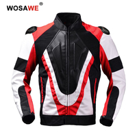 GHOST RACING Motorcycle Jackets Waterproof PU Leather Motorbike Riding Racing Full Body Protective Gear Armor Motocross Jacket