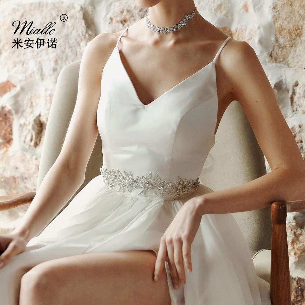 Europe And America Big Brand Bride Girdle Alloy Flower Diamond Set Chain Belt Wedding Belt Bride Accessories