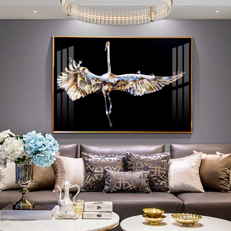Mighty Bird Crystal Porcelain Villa Framed Canvas Painting - Canvas Paintings Under $5,000