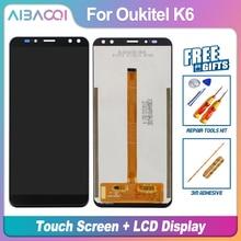AiBaoQi 새로운 원본 5.99 인치 터치 스크린 + 2160x1080 LCD 디스플레이 어셈블리 교체 Oukitel K6 전화