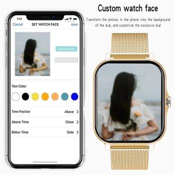 2021 New Women Smart watch Men 1.69″ Color Screen Full touch Fitness Tracker Bluetooth Call Smart Clock Ladies Smart Watch Women 4