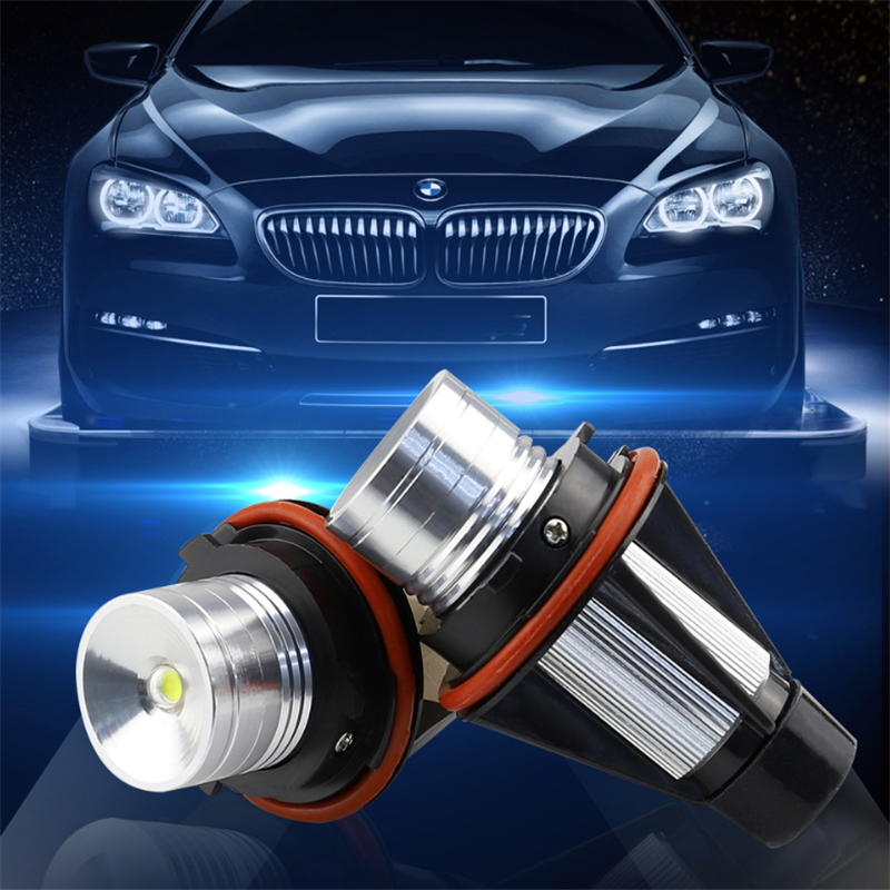 1pc 5W 6000K Angel Eyes Fog Bulb LED Marker Lights For BMW 3 Series E39 E53 E65 E66 E60 E61 E63 E64 E87 Lamp Styling Accessories