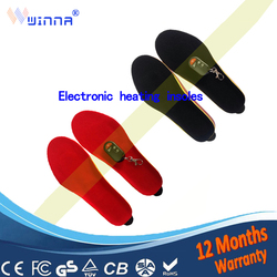 Heated insoles for shoes wireless remote control 3 level choice electric safety heated boots insoles warm winter 1800MAH