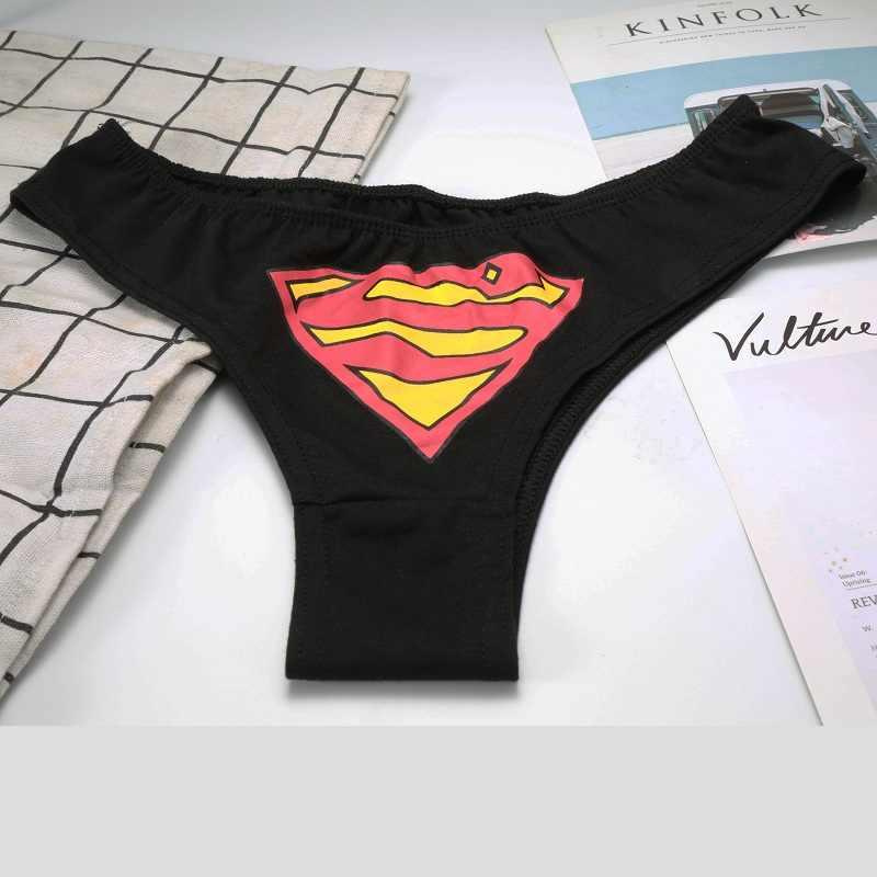 Olomlb Sexy Vrouwen Superheld Batman Captain Superman Cartoon Ondergoed G-string Slipje Vrouwen Ondergoed