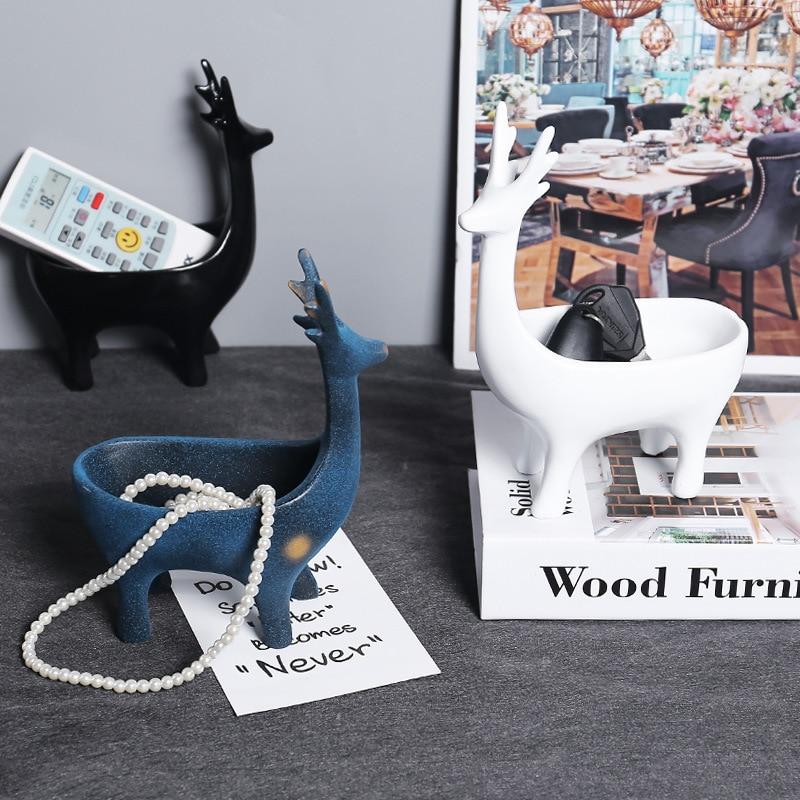 2020 с рисунком лося для хранения Nordic Стиль украшение спереди ключевые ювелирные изделия для хранения вход дома фэн-шуй туалетный столик Изделия из смолы