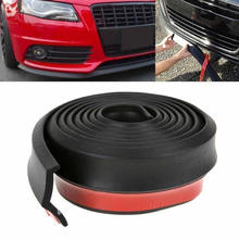 Universal 2.5M Car Front Bumper Lip Spoiler Splitter Skirt Rubber Protector Body Car Front Bumper Lip Protector