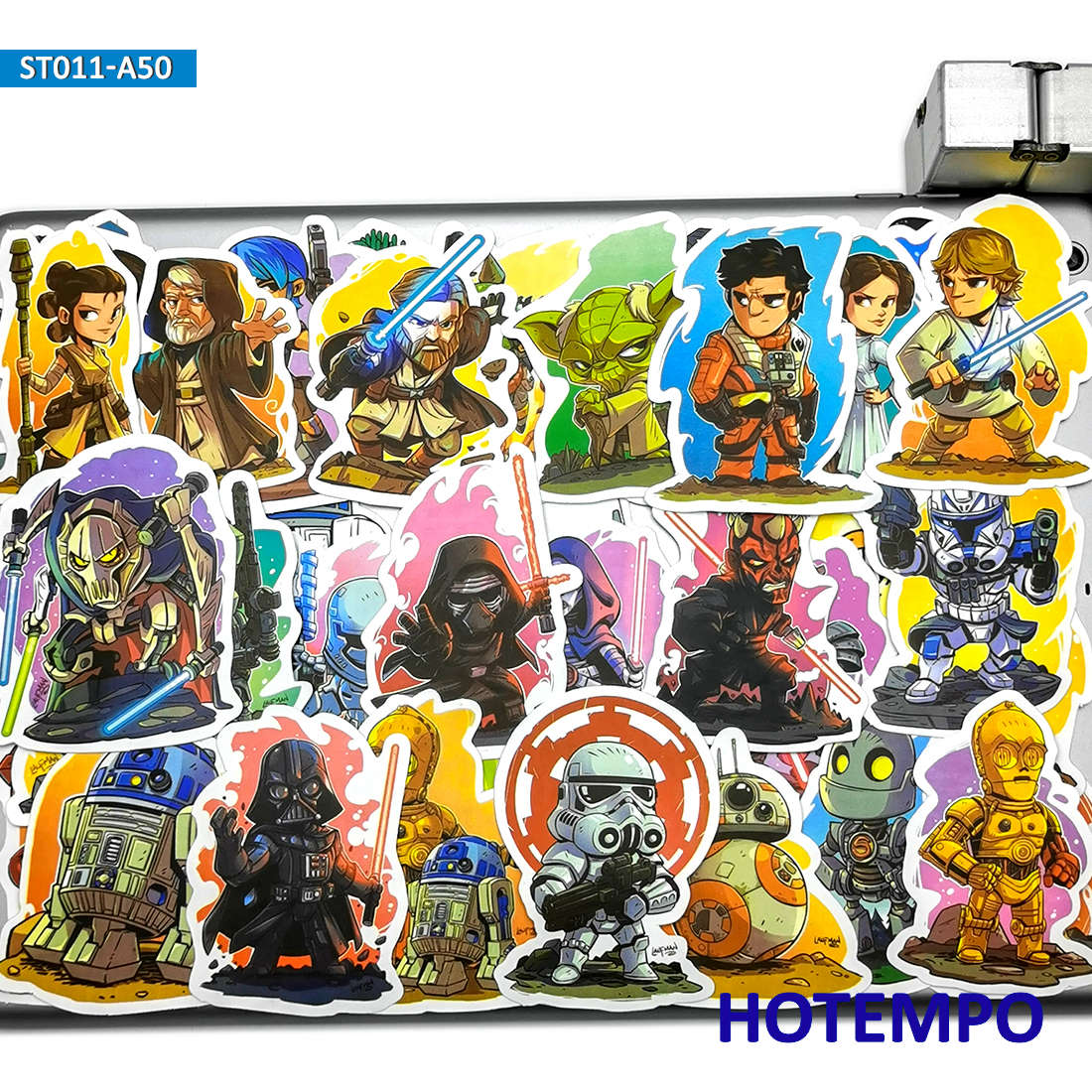 50pcs Cartoon Star War Comic Style Stickers Toys For Kids Mobile Phone Laptop Luggage Skateboard Stationery Anime Decal Stickers