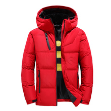 2019 Winter New Down Jacket Men White Duck Down Men Section Casual Thickening Warm Youth Men #8217 S Hooded Down Coat 1897 cheap JUNGLE ZONE Thick (Winter) G1897 REGULAR zipper Denim Polyester Acetate Full Solid NONE Button Pockets Zippers Short 250g-300g