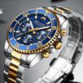 MEGALITH Business Männer Uhr Luxus Marke Edelstahl Armbanduhr Chronograph Army Military Quarz Uhren Relogio Masculino-in Quarz-Uhren aus Uhren bei