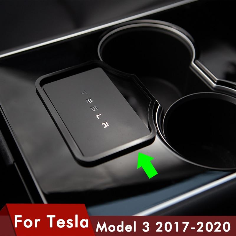 Model3 Car Engine Start Card Key Trim Frame Holder Fixer Limiting Sticker Decoration For Tesla Model 3 Accessories Three 2020