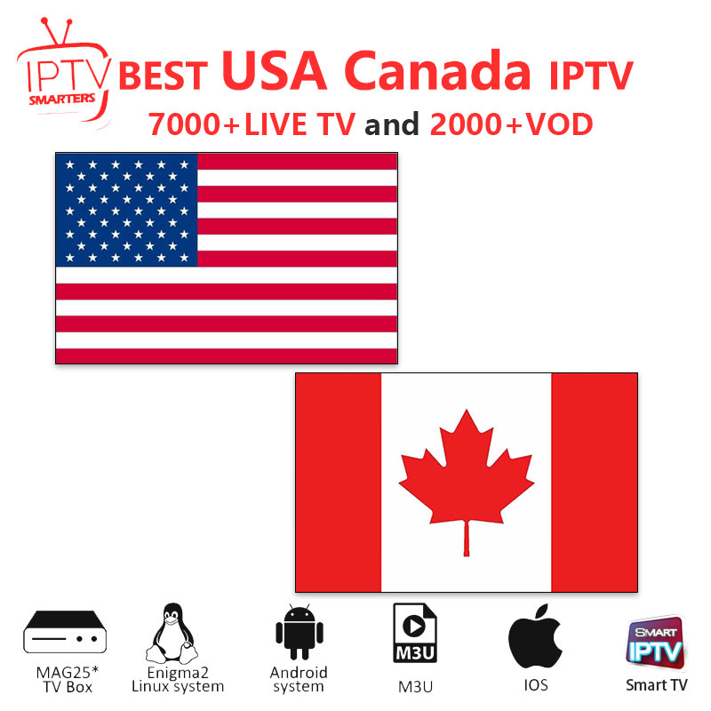 iptv subscription Canada IPTV M3U IPTV 7000 Live HD channels for m3u mag box smart tv USA iptv M3U code sports adults free test in Set top Boxes from Consumer Electronics