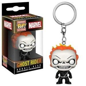 Funko Pop!! Marvel Ghost Rider figurki brelok zabawka torba wisiorek model z winylu zabawki dla dzieci świąteczne prezenty urodzinowe