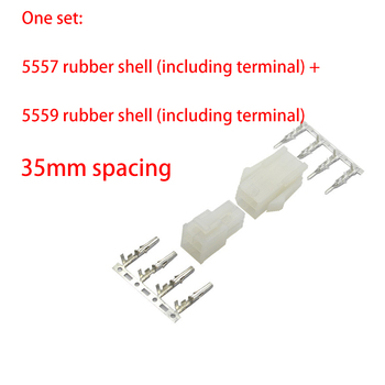 1set/sets NEW Original 5557 / 5559 air butt joint connector plug terminal male female pair plug connector 4.2mm image