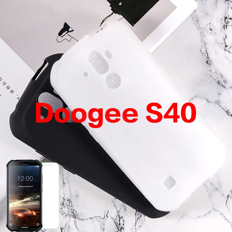 "Phone Shell Case For Doogee S40 5.5"" Back Cover Soft Silicone Case For Doogee S40 IP68 With Tempered Glass For Doogee S40 2019(China)"