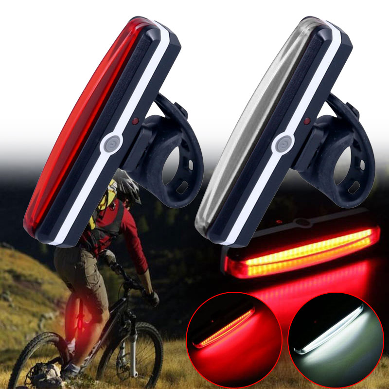 Red USB Rechargeable Portable Rear Tail Lamp 2018 Outdoor Warning Light Bicycle Taillights Waterproof LED IPX5 Dropshipping