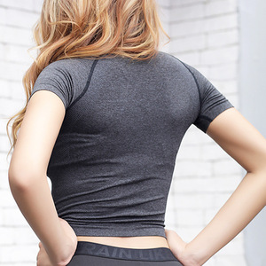 Image 2 - Nepoagym Quick Dry Women Cropped Seamless Short Sleeve Top  Womens Workout Tops  Sports Wear for Women Gym  Women Sexy Shirt