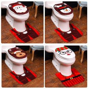 Santa Claus Snowman Reindeer Christmas Toilet Cover Merry Christmas Decoration For Home Xmas Ornament Navidad 2020 New Year 2021