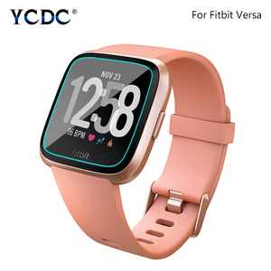 Anti-fingerprint 0.26mm Square Hd Tempered Glass Screen Protector Protective Film For Fitbit Versa Smart Watch Explosion-proof