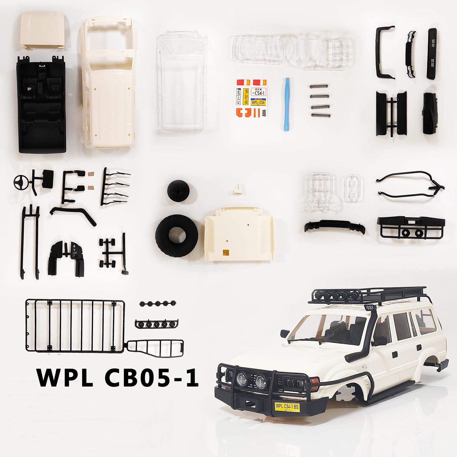 Rc corpo do carro conjunto de habitação caso conjunto para rc carro wpl CB05-1LC80 quatro rodas crianças boneca brinquedos para o miúdo menino presente de aniversário