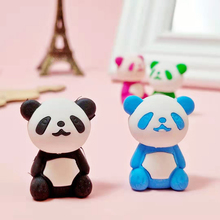 4 Pcs/lot Cute Cartoon Eraser Lovely Panda Children Office Stationery Gift Prizes Kawaii School Supplies
