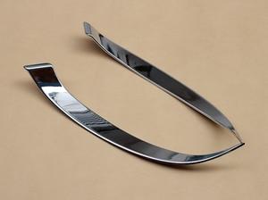 Image 3 - Chrome Scheinwerfer Trimmt Für Mazda 2 Demio 2015 2016 2017 2018 2019 Kopf Licht Streifen Zubehör
