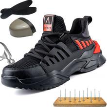 Holfredterse lekkie męskie obuwie ochronne niezniszczalne obuwie robocze oddychające buty stalowe buty z palcami obuwie bezpieczeństwo 1688-628 tanie tanio Pracy i bezpieczeństwa CN (pochodzenie) Mesh (air mesh) ANKLE Stałe Dla dorosłych Syntetyczny Okrągły nosek RUBBER